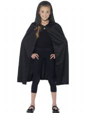 Childs Hooded Cape In Black